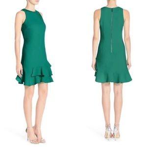 Chelsea28 Green Tiered Ruffle Hem Mini Dress